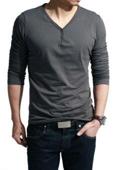 ไซเบอร์คอวีแขนเสื้อชายยาวลำลองเสื้อยืดเสื้อ (หมอก)