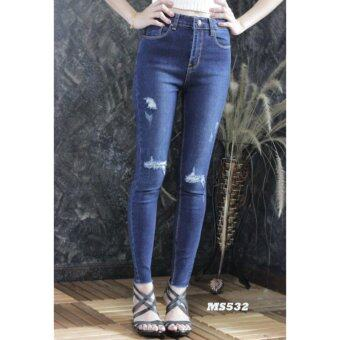 platinum fashion กางเกงยีนส์ขายาว สินค้านำเข้า เนื้อผ้า สีสวย รุ่นPMS532