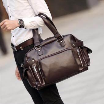 Osaka กระเป๋าสะพายไหล่ผู้ชาย หรือถือ พร้อมชอ่งใส่ NOTE BOOK รุ่น NE834 ( สีน้ำตาล)