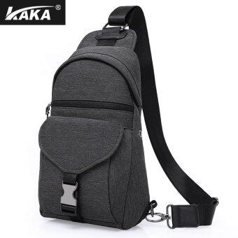 Harga KAKA-99011 Leisure Chest Pack Boys Fashion Shoulder Satchel Men Oxford Cloth Bag Youth Men's Oblique Backpack - intl