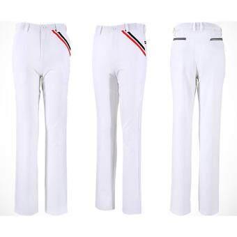 EXCEED กาเกงกอล์ฟสำหรับสุภาพบุรุษ PGM ( สีขาว ) New PGM Golf Men's Pants Autumn Clothes High Elastic Trousers Quick Drying Thin Pants Plus Size XXS 3XL 98%Polyester (WHITE)