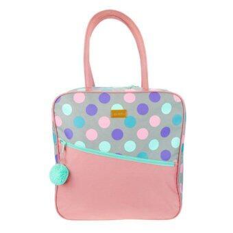 Passion Shop กระเป๋าสะพายไหล่ ลายจุด สีชมพู