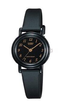 Casio Standard นาฬิกาข้อมือผู้หญิง สีดำ สายเรซิ่น รุ่น LQ-139AMV-1LDF