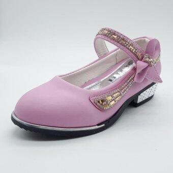 Alice Shoe รองเท้าเด็ก Loafer แฟชั่นเด็กผู้ชาย&เด็กผู้หญิง รุ่น LF011-LP(สีชมพูอ่อน)