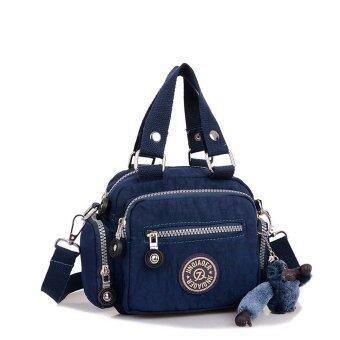กระเป๋าถือกระเป๋าสะพายกันน้ำเชือกไนลอนเส้นสารสีน้ำเงินเข้ม