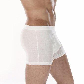 Sanremo แซนรีโม กางเกง Boxer Double Hygienic รุ่น NIS-SCD4-WH สีขาว