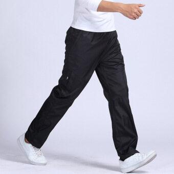 2559 ใหม่กีฬากลางแจ้งแห้งอย่างรวดเร็วชายหนุ่มกางเกงเอวยางยืดกางเกงกีฬาเต็มตัววิ่งออกกำลังกาย 3XL ชายกางเกงจ๊อกกิ้ง