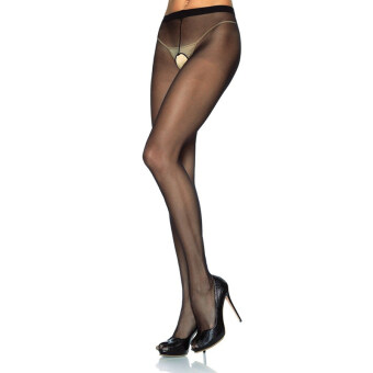 Harga Yinglite Women Sexy Fishnet Open Crotch Open Cup Bodystocking Lingerie Suspender Sleeve Pantyhose Tights Exotic Hosiery Black-1 - intl