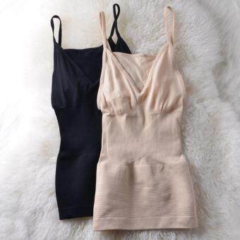 MUNAFIE Slimming Vest เสื้อกระชับสัดส่วนเก็บส่วนเกิน 2 ชิ้น (สีดำ 1 ชิ้น + สีเนื้อ 1 ชิ้น)