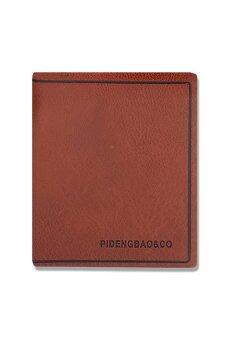 PIDENGBAO & CO กระเป๋าสตางค์ผู้ชายทรงตั้ง ( สีน้ำตาล )