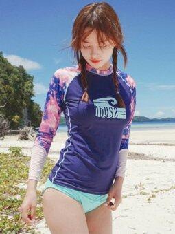 Diana Kiss ชุดว่ายน้ำแขนยาว Shining Star (สีม่วง)