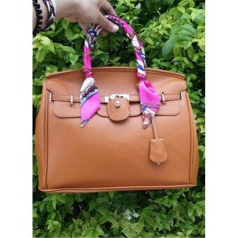 Moniga-Moniga กระเป๋าถือ รุ่น Kardos Brown แถมผ้าพันหูกระเป๋า