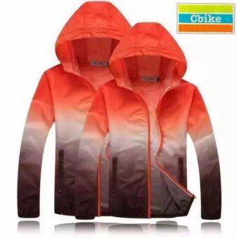 cbike LW เสื้อแจ๊คเก็ตโค้ดพร้อมฮู้ด(สีส้มน้ำตาล) สำหรับการออกกำลังกายกายแจ้ง ฟิสเนต วิ่ง สวมใส่เบาสบาย ระบายอากาศได้ดี
