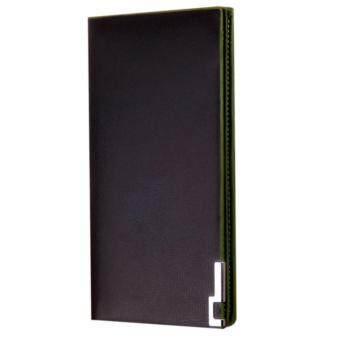 Matteo กระเป๋าใส่เช็คและเงินสำหรับผู้ชาย รุ่น Long Wallet - สีดำ/เขียว Black