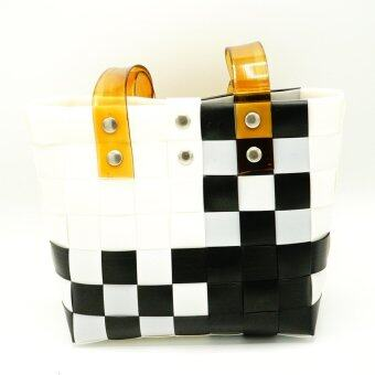 กระเป๋าสานถือ สะพายข้าง แฮนด์เมค รุ่น BHM003