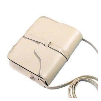 กระเป๋าเงินหนัง Coconiey วินเทจข้ามไหล่ร่างกายส่งกระเป๋าสีเบจจัดส่งฟรี