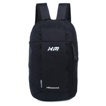 กระเป๋าเป้กระเป๋าเบากันน้ำถังรูปทรงลวดลายแบบพกพาสำหรับเพศ (สีดำ) (image 2)