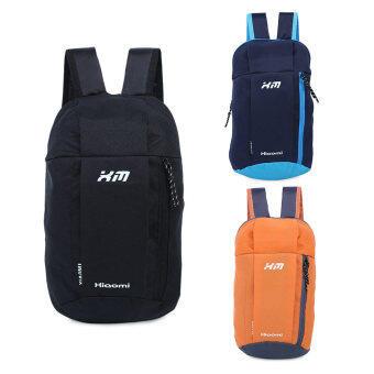 กระเป๋าเป้กระเป๋าเบากันน้ำถังรูปทรงลวดลายแบบพกพาสำหรับเพศ (สีดำ)