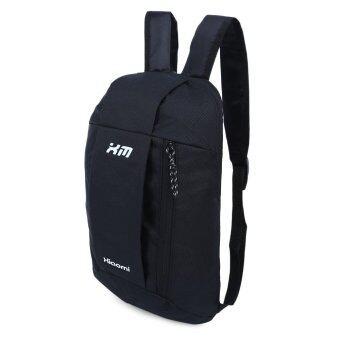 กระเป๋าเป้กระเป๋าเบากันน้ำถังรูปทรงลวดลายแบบพกพาสำหรับเพศ (สีดำ) (image 1)