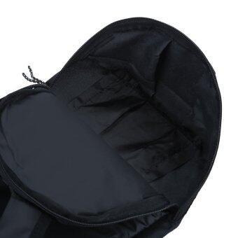กระเป๋าเป้กระเป๋าเบากันน้ำถังรูปทรงลวดลายแบบพกพาสำหรับเพศ (สีดำ) (image 4)