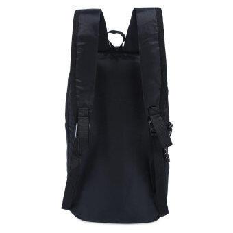 กระเป๋าเป้กระเป๋าเบากันน้ำถังรูปทรงลวดลายแบบพกพาสำหรับเพศ (สีดำ) (image 3)