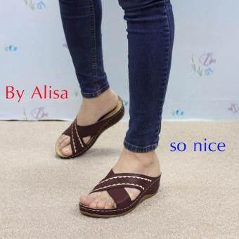 Alisa Shoes รองเท้าเพื่อสุขภาพ รุ่น RCB90556-16A Maroon