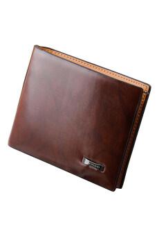 Sanwood หนังเทียมกระเป๋าสตางค์ของผู้ชายพับครึ่งวางกระเป๋าถือบัตรเครดิตคลัตช์