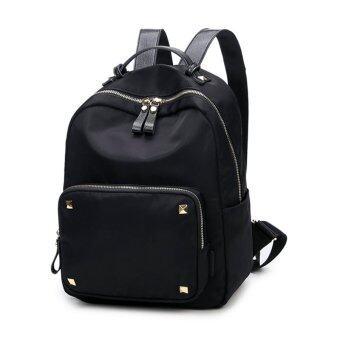 Maylin กระเป๋าเป้สะพายหลัง ผู้หญิง กระเป๋าเป้เกาหลี กระเป๋าเป้หนัง รุ่น MP-101 (สีดำ)