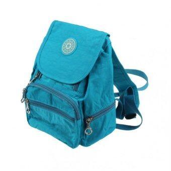 กระเป๋าเป้กระเป๋าเป้สะพายหลังไนลอนสันทนาการนักเรียนเดินป่าเห็นกระเป๋ากระเป๋าสีน้ำเงิน-ระหว่างประเทศ