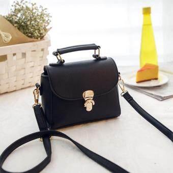 Little Bag กระเป๋าถือ กระเป๋าแฟชั่น กระเป๋าสะพายพาดลำตัว รุ่น LB-063 (สีดำ)