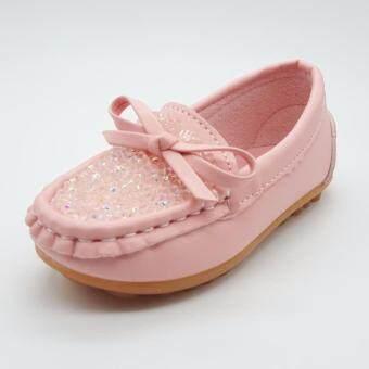 Alice Shoe รองเท้าเด็ก Loafer แฟชั่นเด็กผู้ชาย&เด็กผู้หญิง รุ่น LF009-P(สีชมพู)
