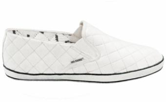 Mashare รองเท้าผ้าใบแฟชั่น มาแชร์ สวม รุ่น M77 สีขาว