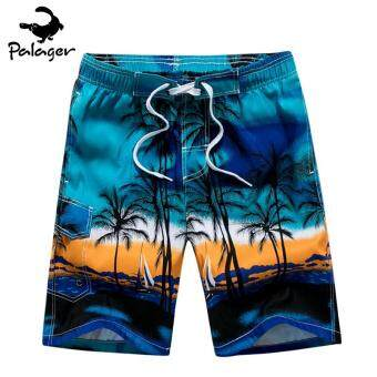 Harga Palager 1701 Summer Men's Beach Swimsuits Shorts Men's Sports Pants Fast Dry - Blue - intl