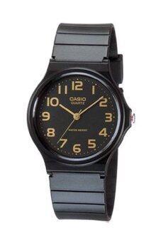 Casio Standard นาฬิกาข้อมมือสุภาพสตรี สีดำ สายเรซิ่น รุ่น MQ-24-1B2