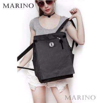 Marino กระเป๋า กระเป๋าเป้ กระเป๋าสะพายหลังสีดำ ไว้อาลัย Woman Backpack No.0210 - All Black