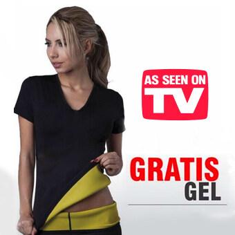 lisa เสื้อ T-shirt เสื้อเรียกเหงื่อ ชุดออกกำลังกาย เสื้อกีฬา ออกกําลังกาย ลดน้ําหนัก ลดความอ้วน lisa 0026-1ดำ