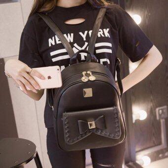 B'nana Beauty กระเป๋าเป้สะพายหลัง กระเป๋าเป้เกาหลี กระเป๋าสะพายหลังผู้หญิง backpack women รุ่น GB-26 (สีดำ)