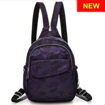 RICHCOCO กระเป๋าเป้สะพายหลัง Nylon leisure Backpack (K01_4 Violet)