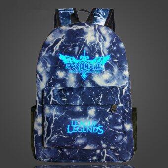 ลีกตำนานฮ่า DOTA OMG กระเป๋าเป้กระเป๋านักเรียน Noctilucent ตระกูลเรา