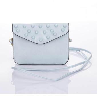 Premium Bag กระเป๋าแฟชั่น กระเป๋าสะพายข้าง รุ่น PB-009 (สีฟ้า)