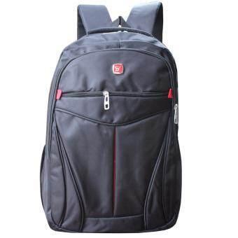 Peimm Modello Classic SV Backpack กระเป๋าเป้สะพายหลัง กระเป๋าใส่ Notebook กันน้ำ สไตส์เกาหลี (สีดำ)