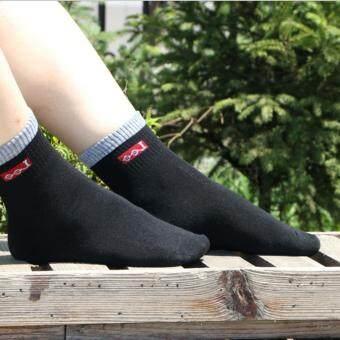 Lee socks (สีดำ)(แพค 4 ชิ้น)