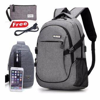 Peimm Modello Premium Backpacker เป้สะพายหลัง เป้กันน้ำ เป้เดินทาง กระเป๋าคาดอก มัลติฟังก์ชั่น