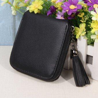 แฟชั่นผู้หญิงกระเป๋าสตางค์หนัง pu 2559 สีดำ