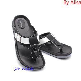 Alisa Shose รองเท้าแตะแฟชั่นผู้ชาย รุ่น AL029 Black