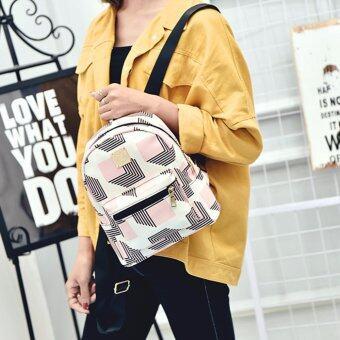 Little Bag กระเป๋าเป้สะพายหลัง กระเป๋าเป้เกาหลี กระเป๋าสะพายหลังผู้หญิง backpack women รุ่น LP-137(สีชมพู)