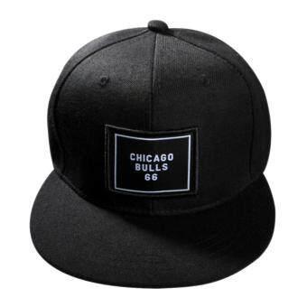 แฟชั่นหมวกเบสบอล Snapback ปรับได้สำหรับบุรุษสีดำ