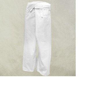 กางเกงเล กางเกงขาก๊วย กางเกงสะดอ (สีขาว)