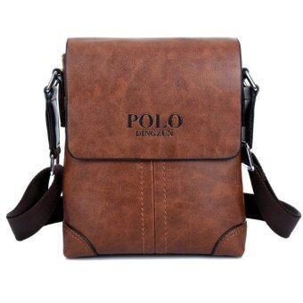 กระเป๋าสะพายไหล่หนังพวกหนังกระเป๋ากระเป๋าเอกสารกระเป๋าแมสเซนเจอร์ธุรกิจสบาย ๆ กระเป๋าแบบพกพาตาย (สีน้ำตาล)
