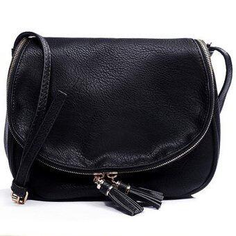 RockLife Fashion Women Bag กระเป๋าสะพายพาดลำตัว Cross-Body Bag 0015 (สีดำ)